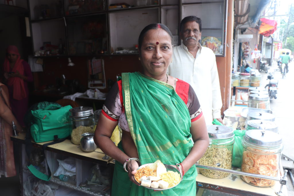 Street vendor Sushila Rathore makes and sells sweets at festivals around the country.