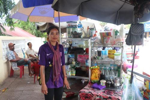 Dy Thona, Cambodian street vendor.